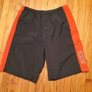 Nike Gray Orange Swimming Trunks/Shorts
